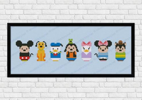 Mickey Mouse cross stitch pattern