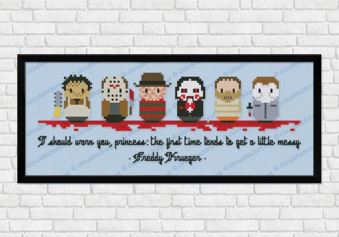 Horror movies maniacs cross stitch