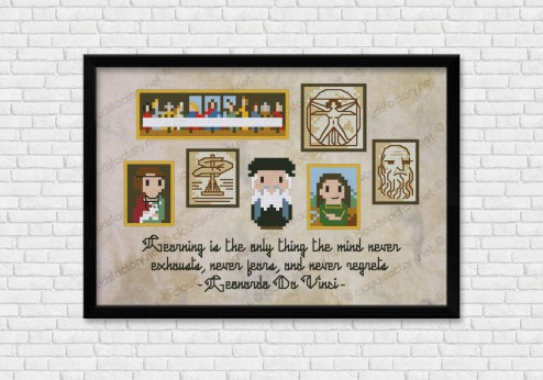 Leonardo da Vinci cross stitch pattern