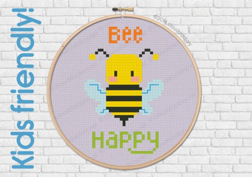 FREE - Bee Happy - Kids friendly pattern