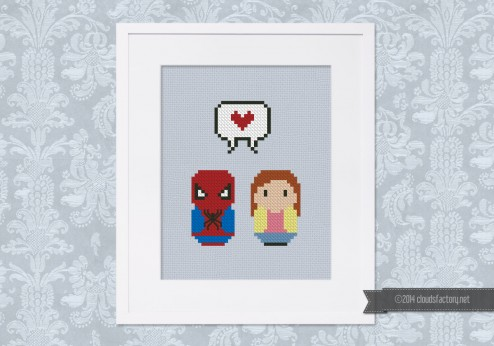 Spiderman and Mary Jane - Mini People in Love