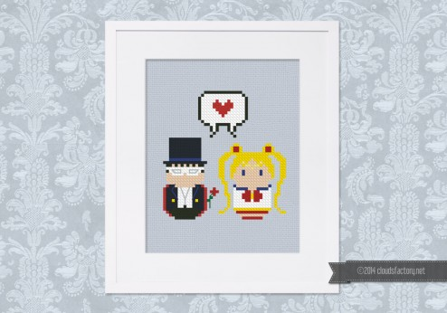 Sailor Moon and Tuxedo Mask - Mini People in Love