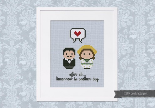 Gone with the Wind - Rhett and Scarlett - Mini People in Love