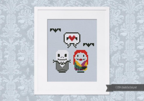 Nightmare before christmas cross stitch