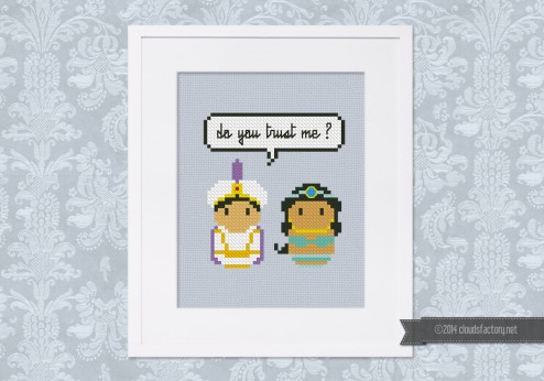 Aladdin and Jasmine - Mini People in Love