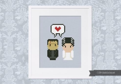 Frankenstein & the Bride - Mini People in Love