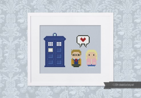 Doctor Who - 10th doctor and Rose Tyler - Mini People in Love