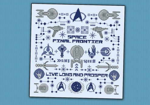Star Trek pillow sampler