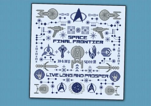 Star Trek pillow sampler