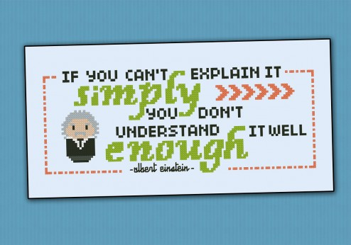 "Albert Einstein Quote - ""If you can't..."""