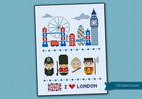 London icons (big version) - Mini people around the world