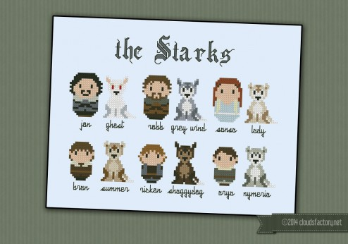 Game of Thrones - The Starks and their wolves