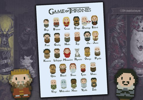 Game of Thrones alphabet sampler