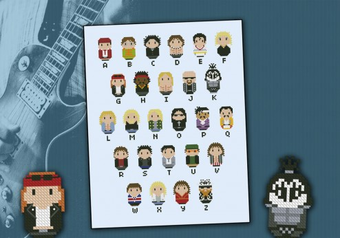 Rock Music alphabet sampler