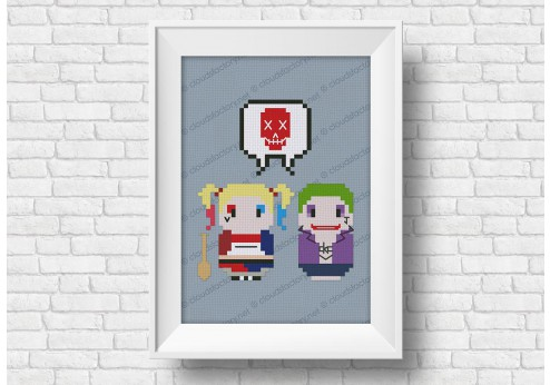 Suicide squad cross stitch pattern