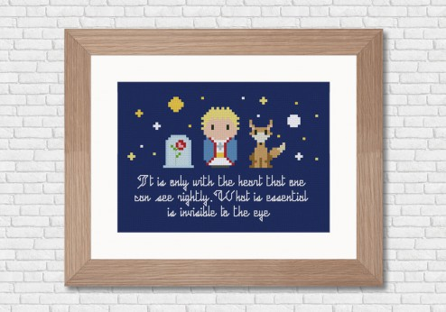 Little prince cross stitch pattern by Cloudsfactory