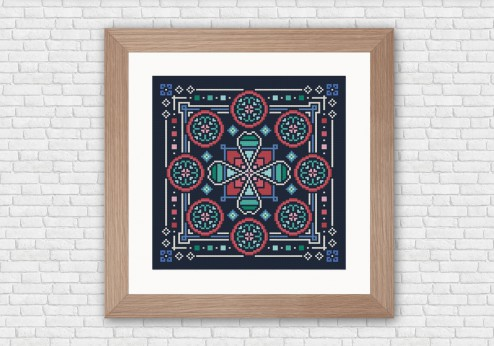 Arabesque cross stitch pattern