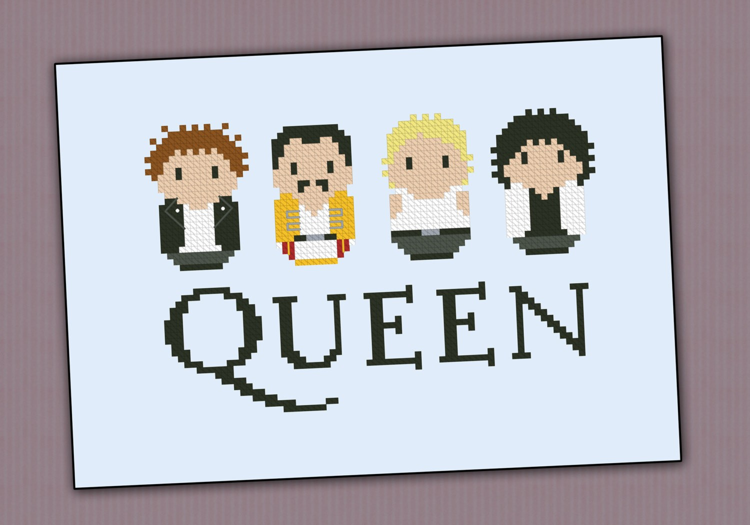 Queen Rock Band Music Mini People Cross Stitch