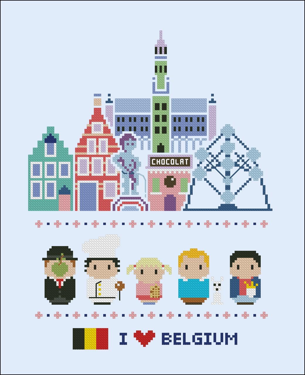 Belgium Icons Big Version Mini People Around The World