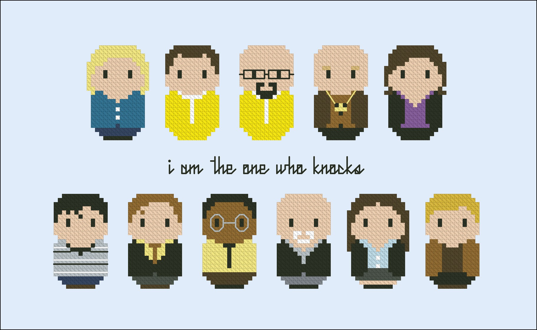 breaking bad tv series mini people cross stitch patterns products digital cross stitch. Black Bedroom Furniture Sets. Home Design Ideas