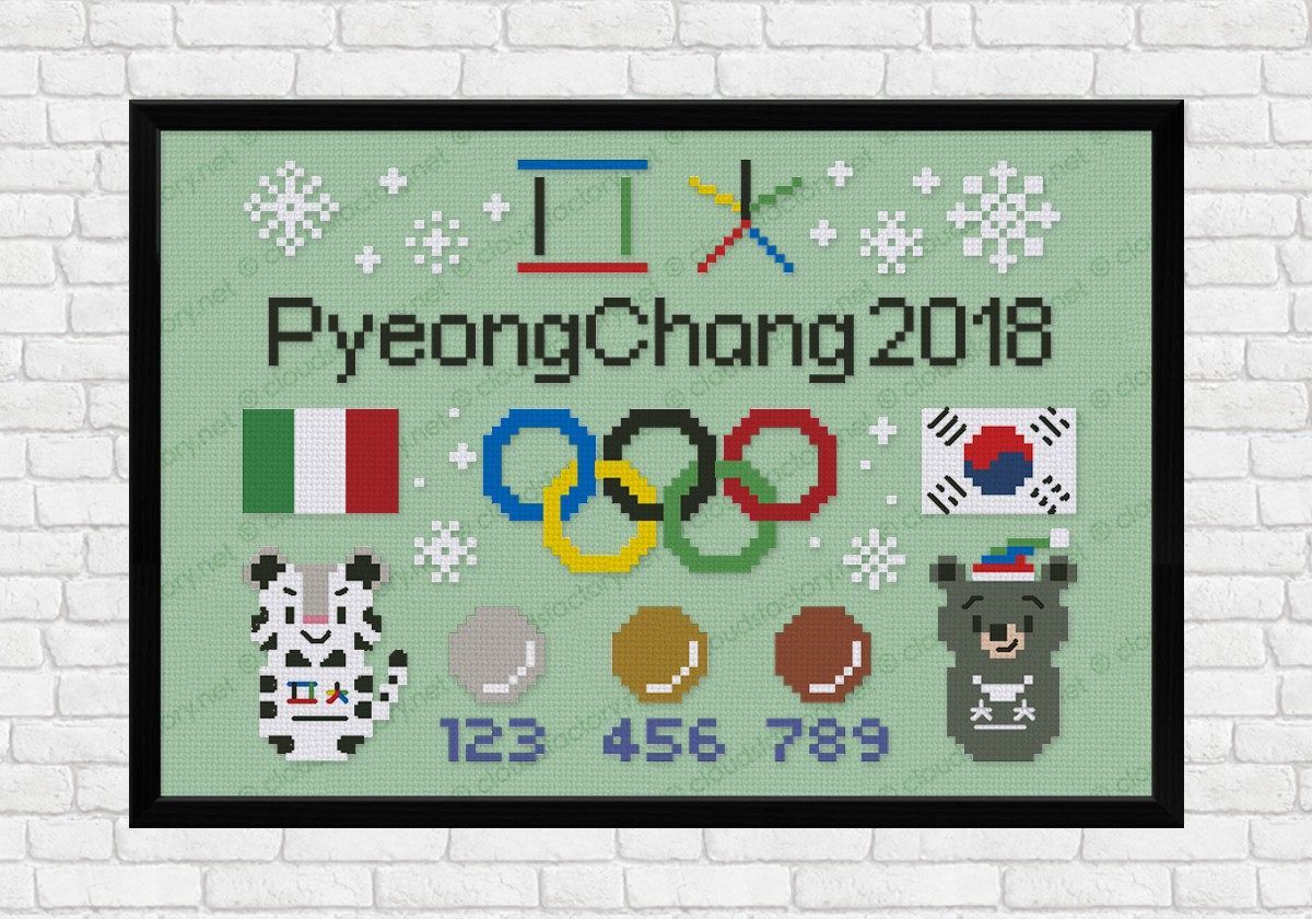 PyeongChang 2018 Olympic Games - Digital Cross Stitch Pattern
