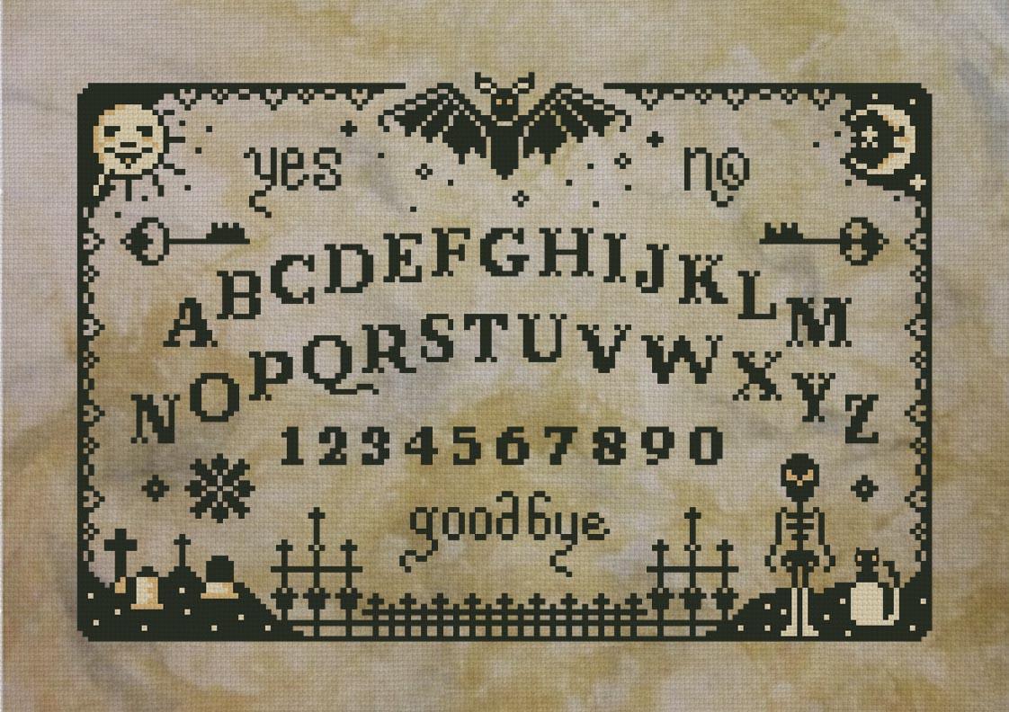 Primitive Ouija Board Digital Cross Stitch Pattern