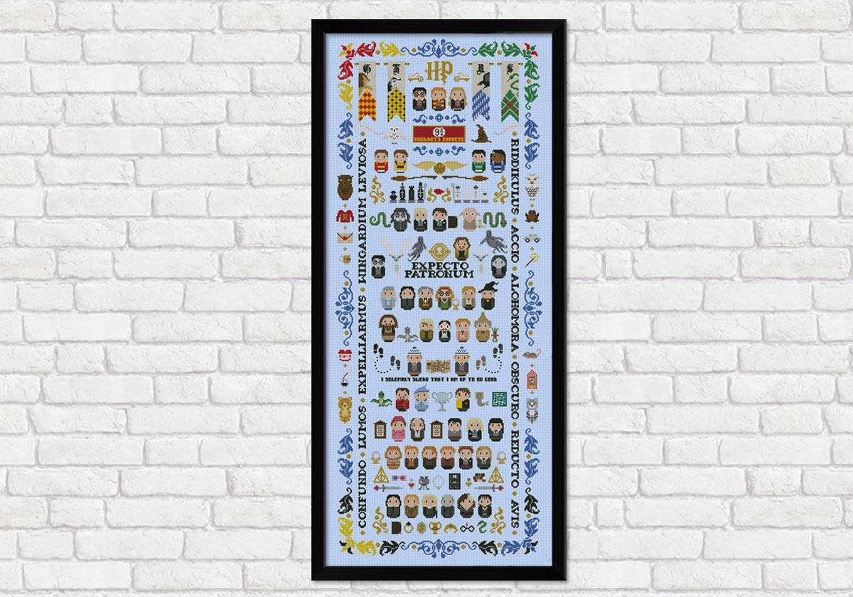 Harry Potter Giant Version Digital Cross Stitch Pattern