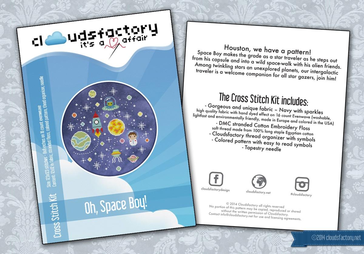 Oh Space Boy Cross Stitch Kit
