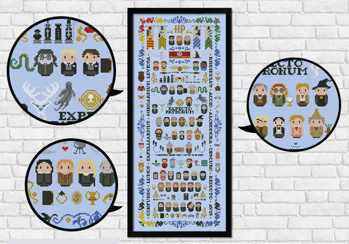 Harry Potter Giant Version Digital Cross Stitch Pattern