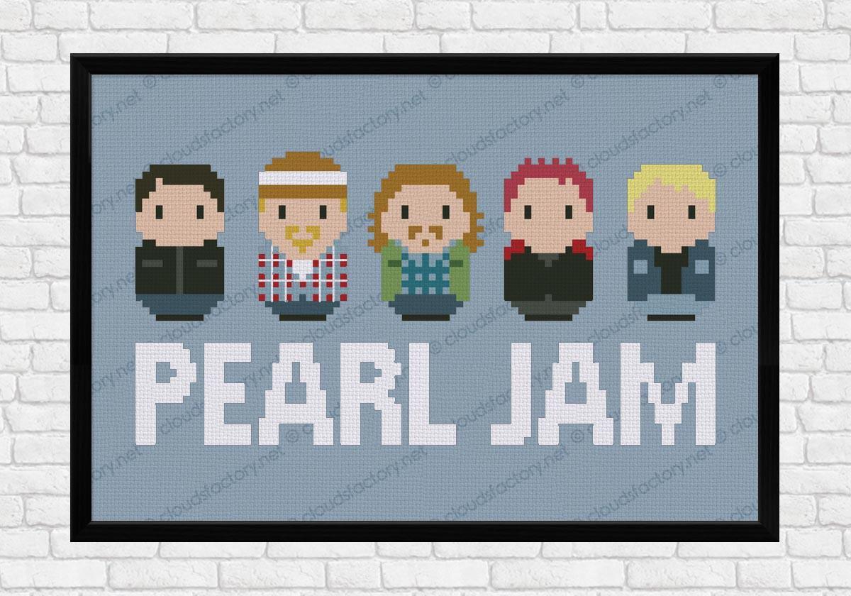 Pearl Jam Digital Cross Stitch Pattern