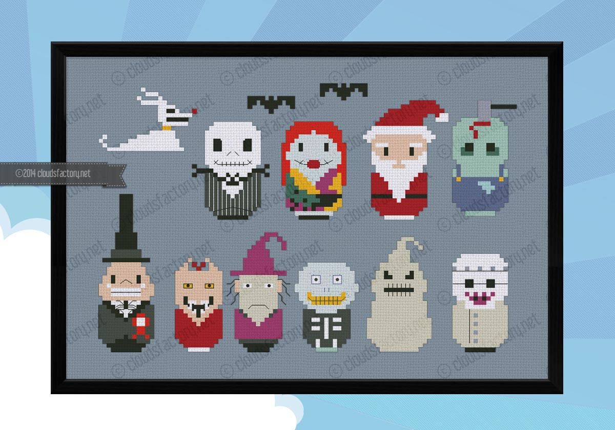 NIGHTMARE BEFORE CHRISTMAS cross stitch PDf 1