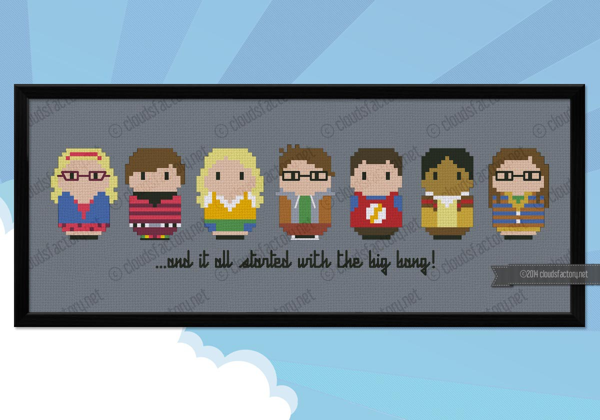 The Big Bang Theory Tv Series Mini People Cross