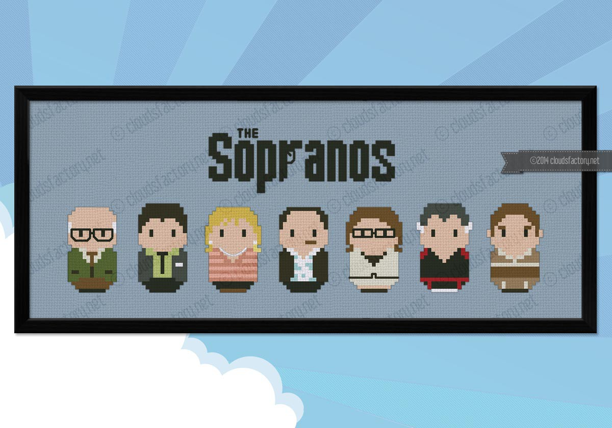 The Sopranos Digital Cross Stitch Pattern