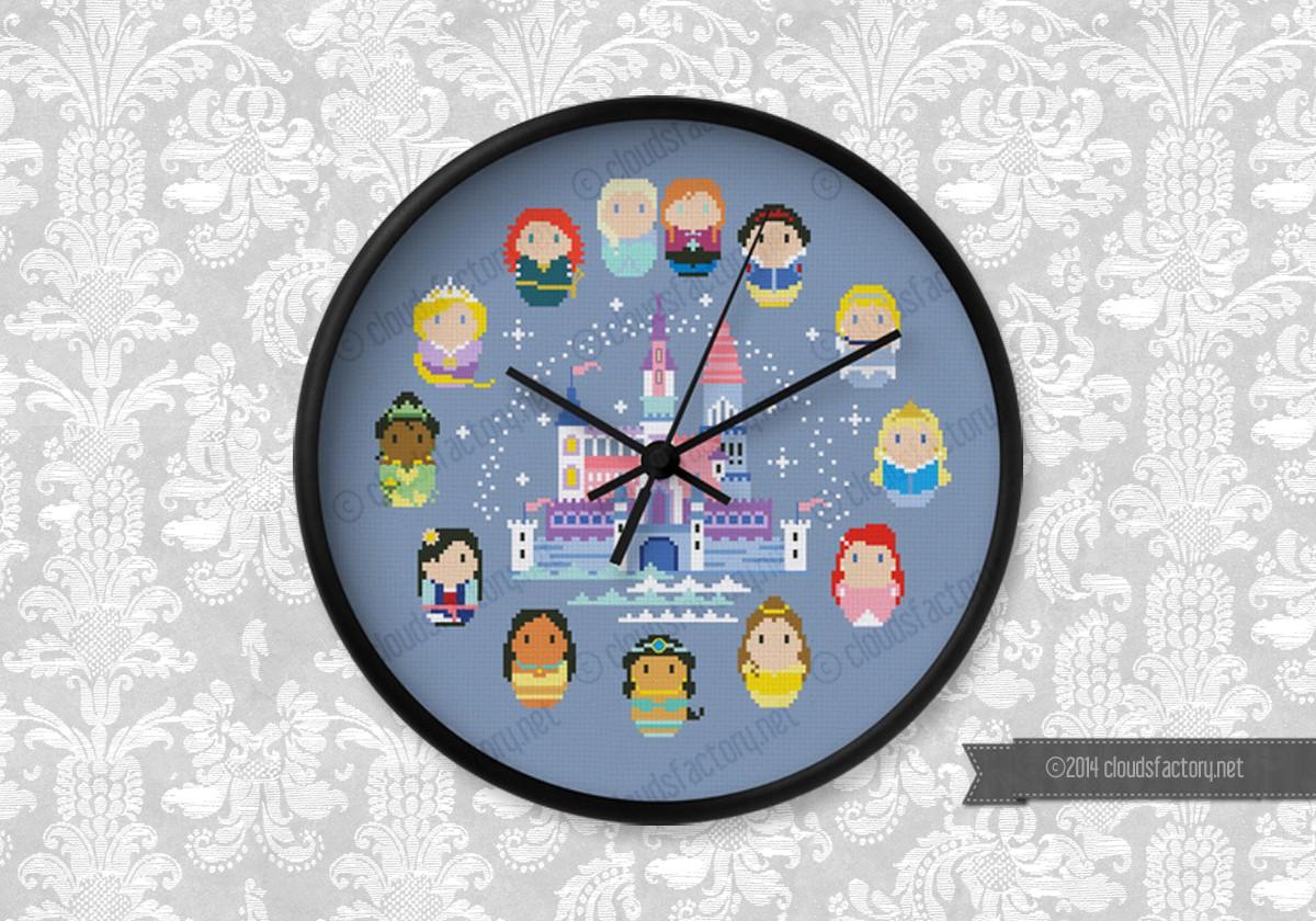 Disney Princesses Clock