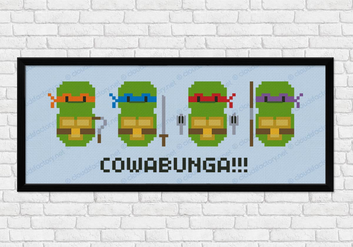 Teenage Mutant Ninja Turtles - Digital Cross Stitch Pattern