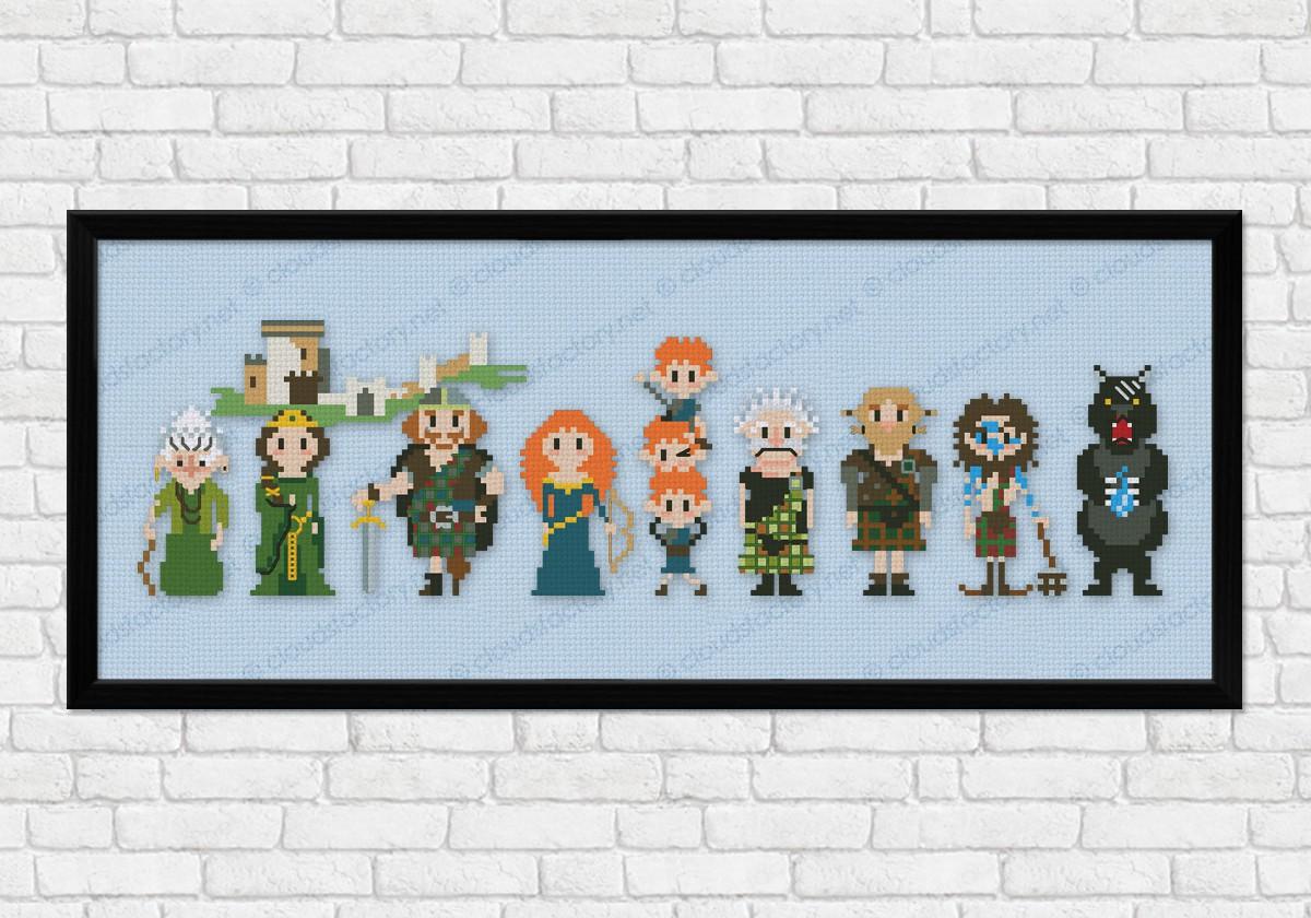 Brave - Epic Storybook Princesses - Digital Cross Stitch Pattern
