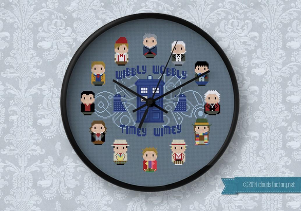 Doctor Who 12 Doctors Clock