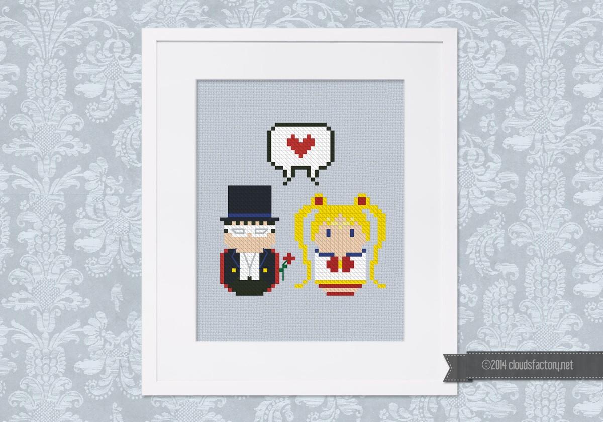 Sailor Moon And Tuxedo Mask Mini People In Love