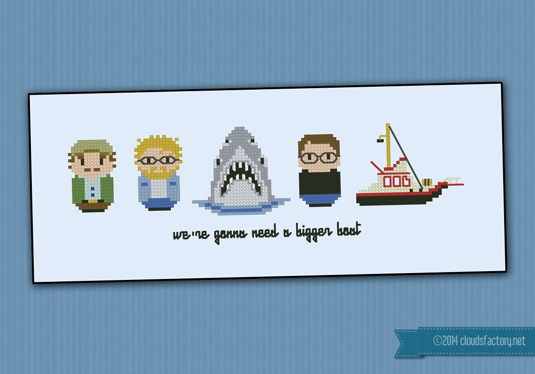 Jaws Movies Mini People Cross Stitch Patterns