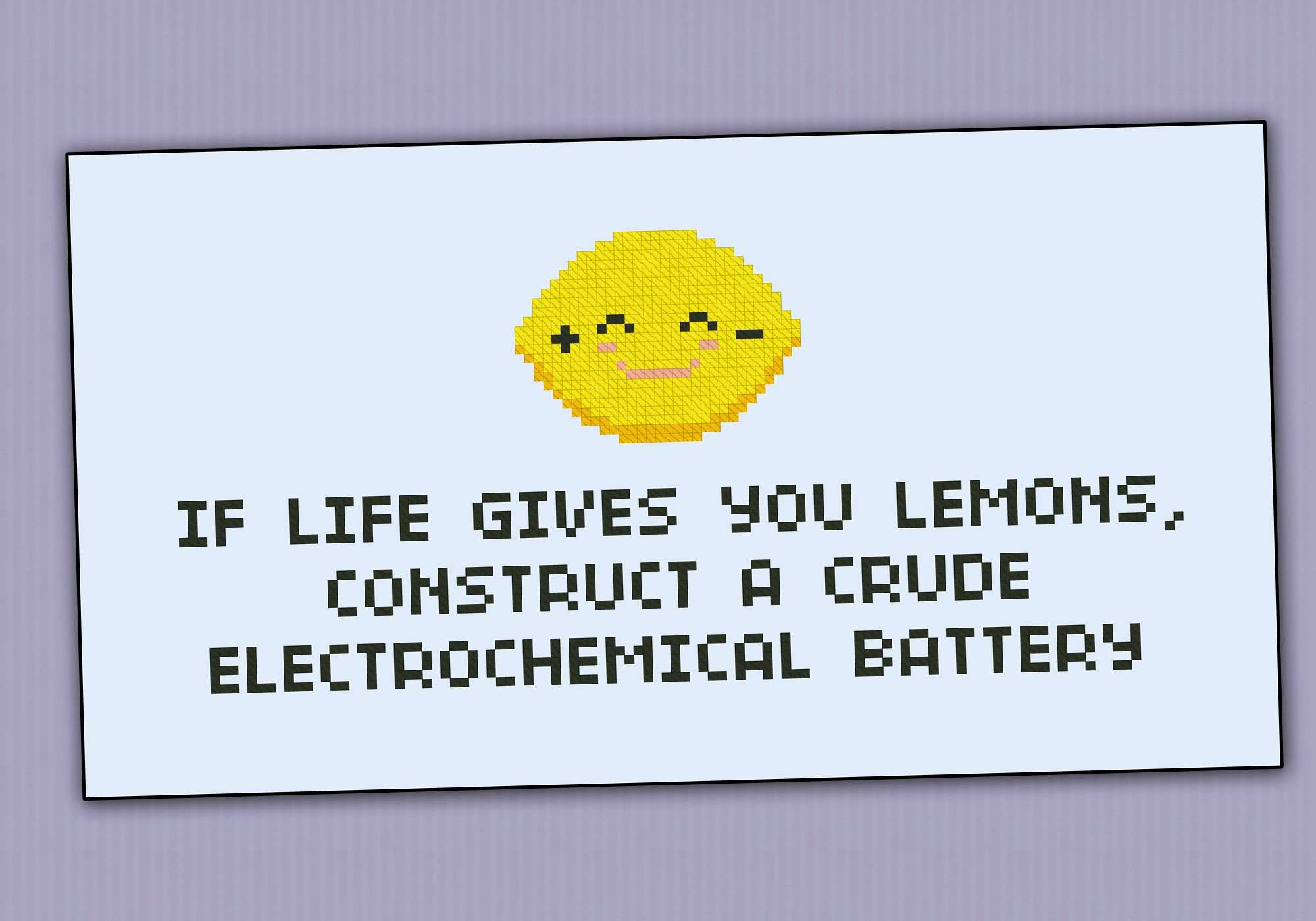 If Life Gives You Lemons Quote Digital Cross Stitch Pattern