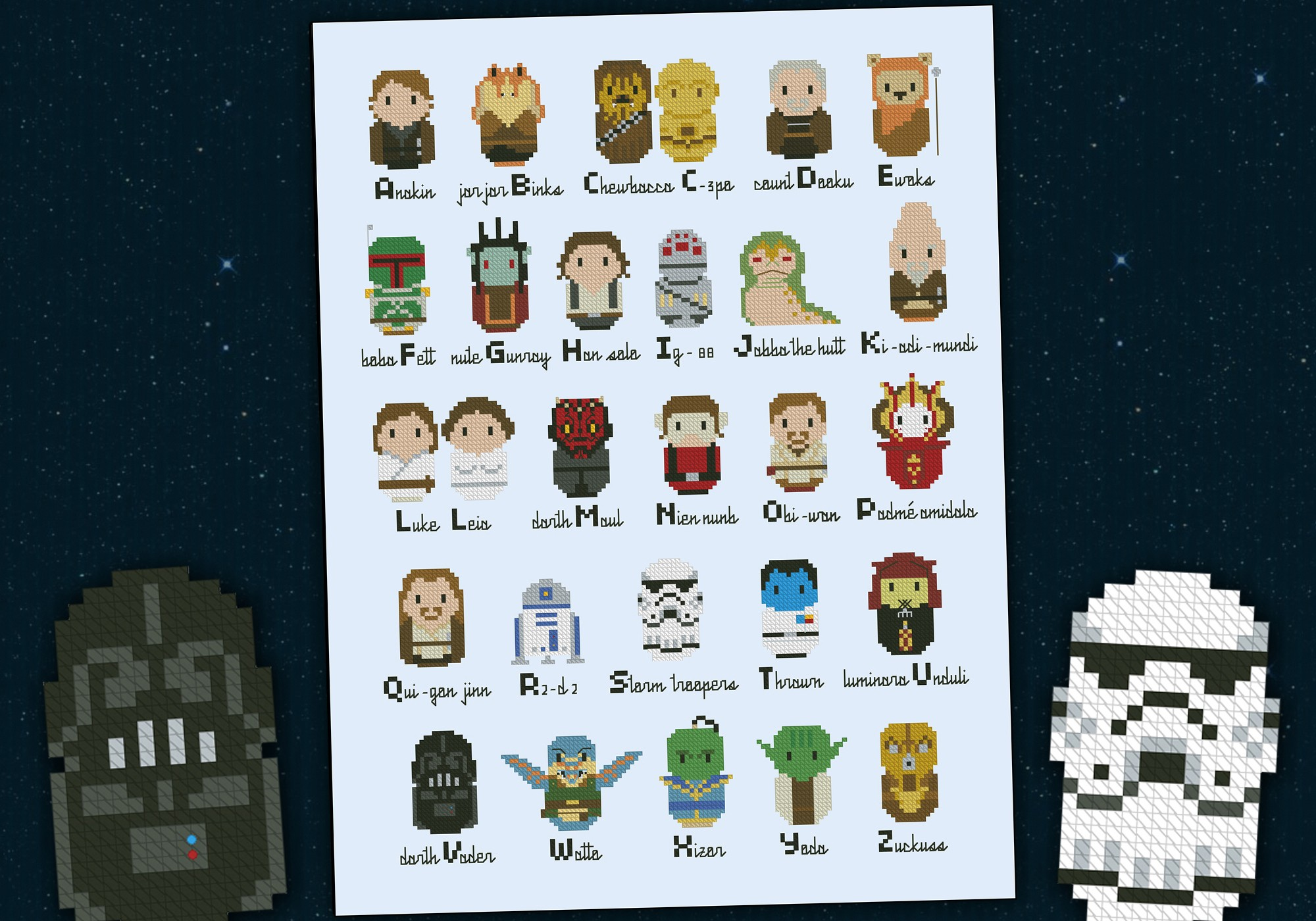 Star Wars Alphabet Sampler