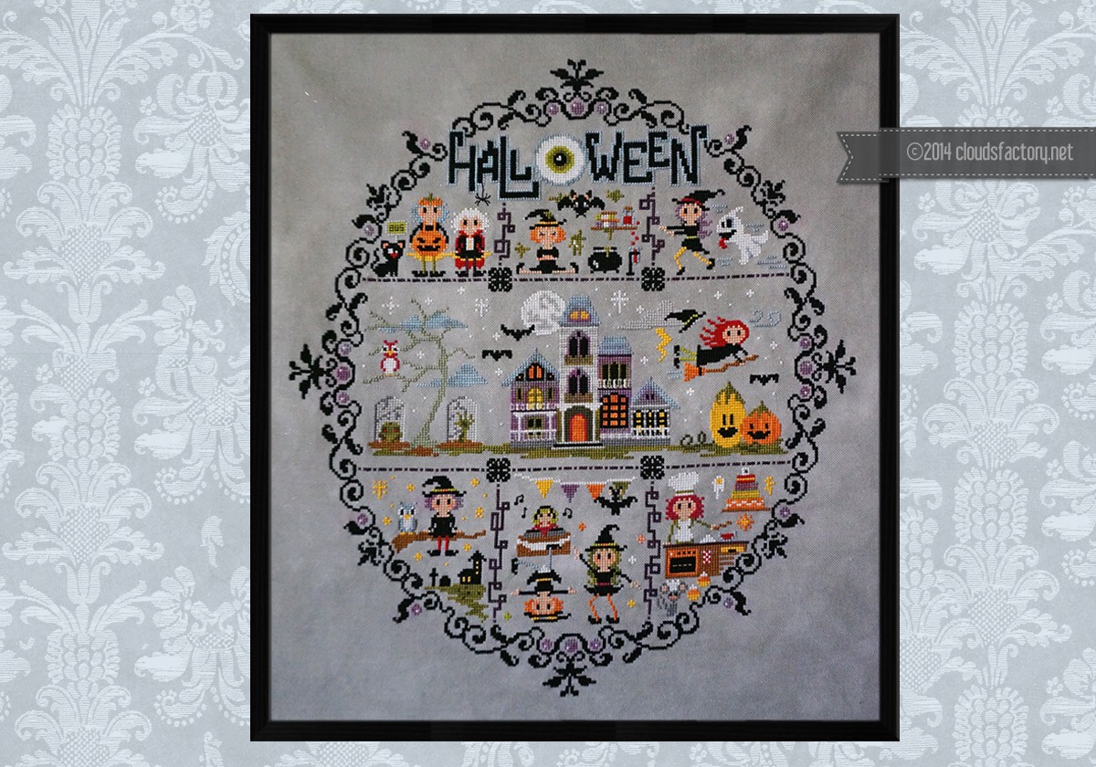 Whacky Witches In Stitches Halloween Sampler Digital