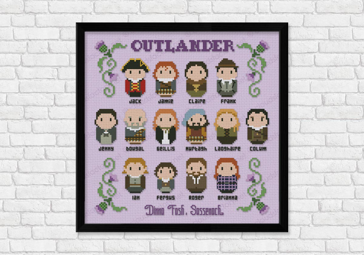 Outlander Digital Cross Stitch Pattern
