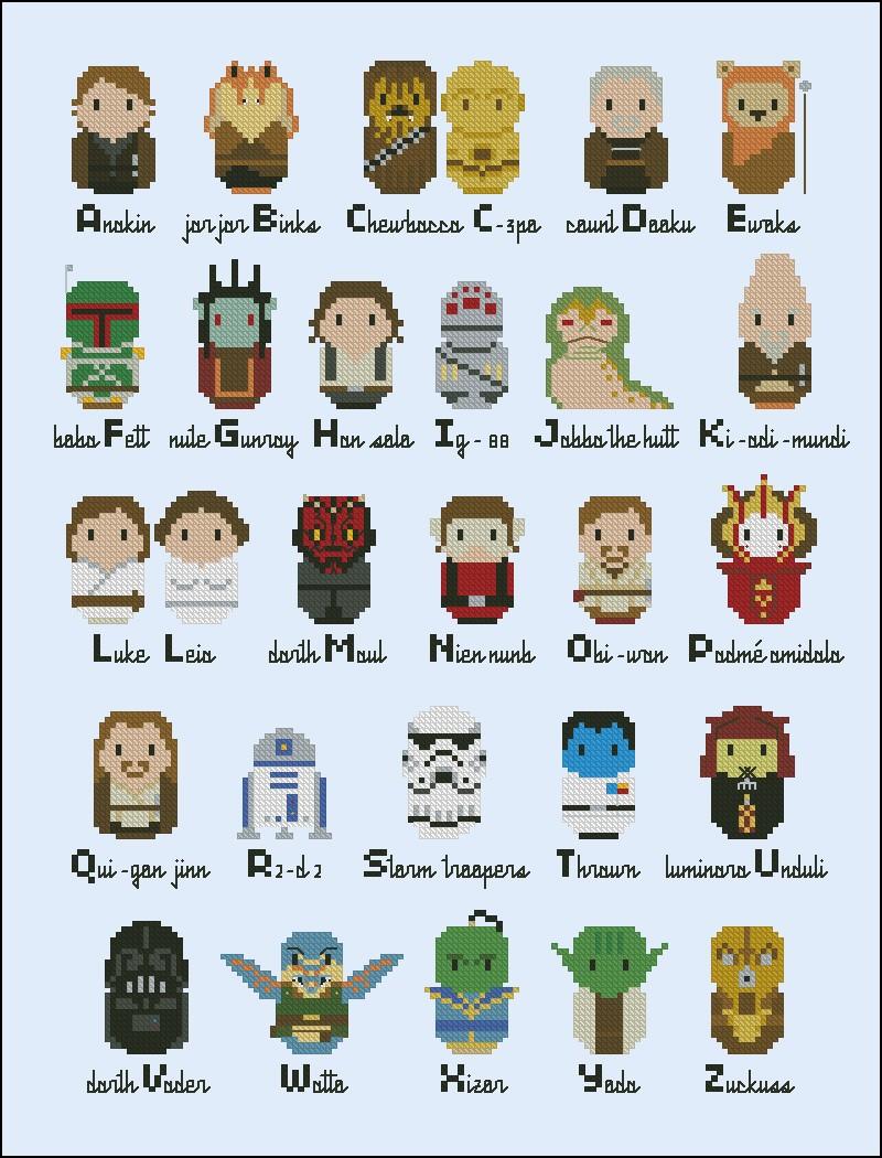 Star Wars Alphabet Sampler