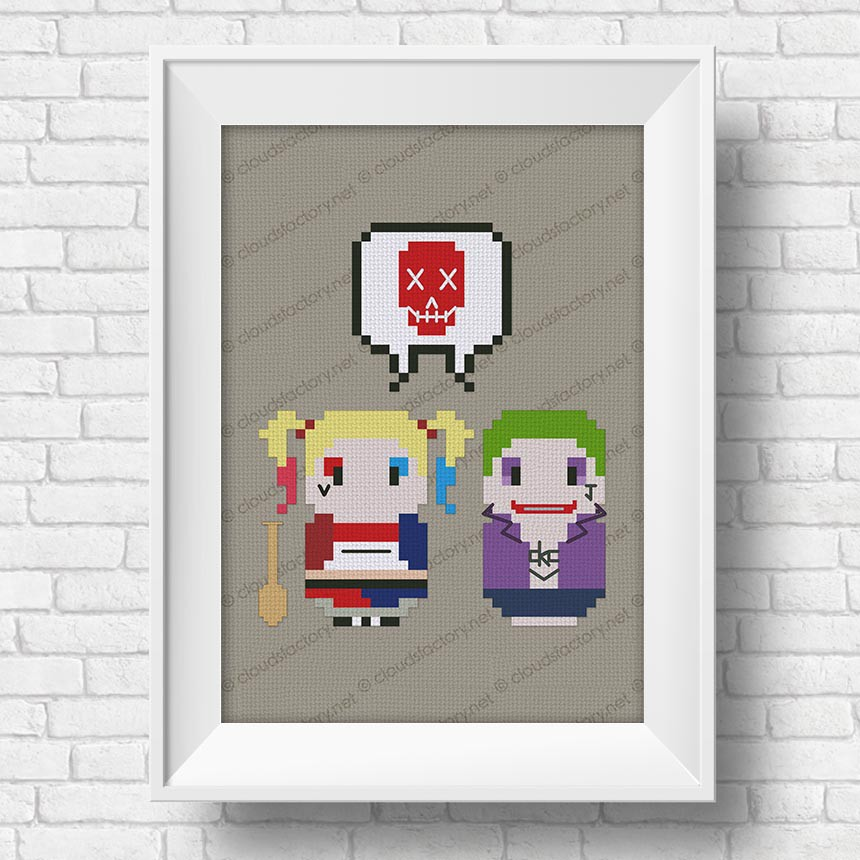 Suicide Squad Harley Quinn And Joker Mini People In