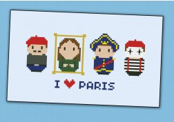 Paris icons (small version) – Mini people around the world