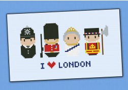 London icons (small version) – Mini people around the world