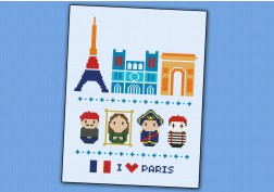 Paris icons (big version) – Mini people around the world