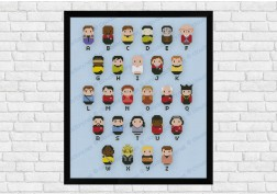 Star Trek alphabet sampler cross stitch pattern