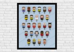 Star Trek alphabet sampler cross stitch pattern